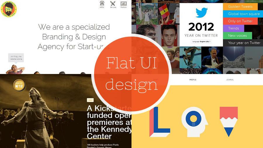 Custom Web Design Services Offering Flat Ui Style Design